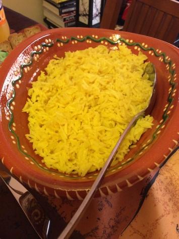 arroz de açafrao